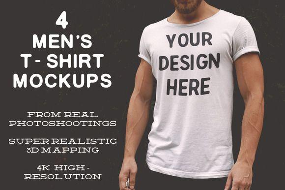 Download 4k Hd Men S T Shirt Mockups Shirt Mockup Mens Tshirts Tshirt Mockup