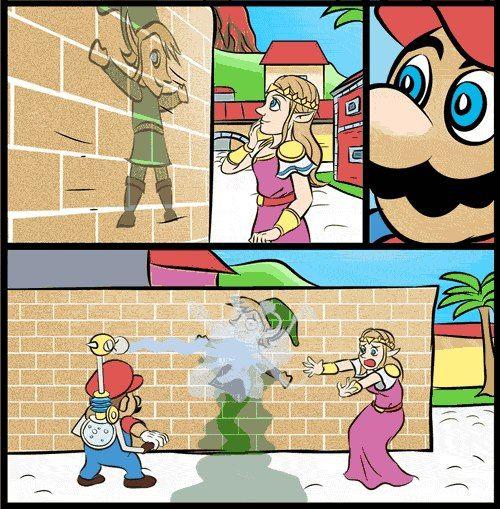 What Evil Mario Legend Of Zelda Zelda Funny Super Smash Bros Memes