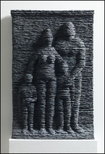 Family (Relief) 2014 Slate, 20.75 x 13.75 x 3.5 inches.