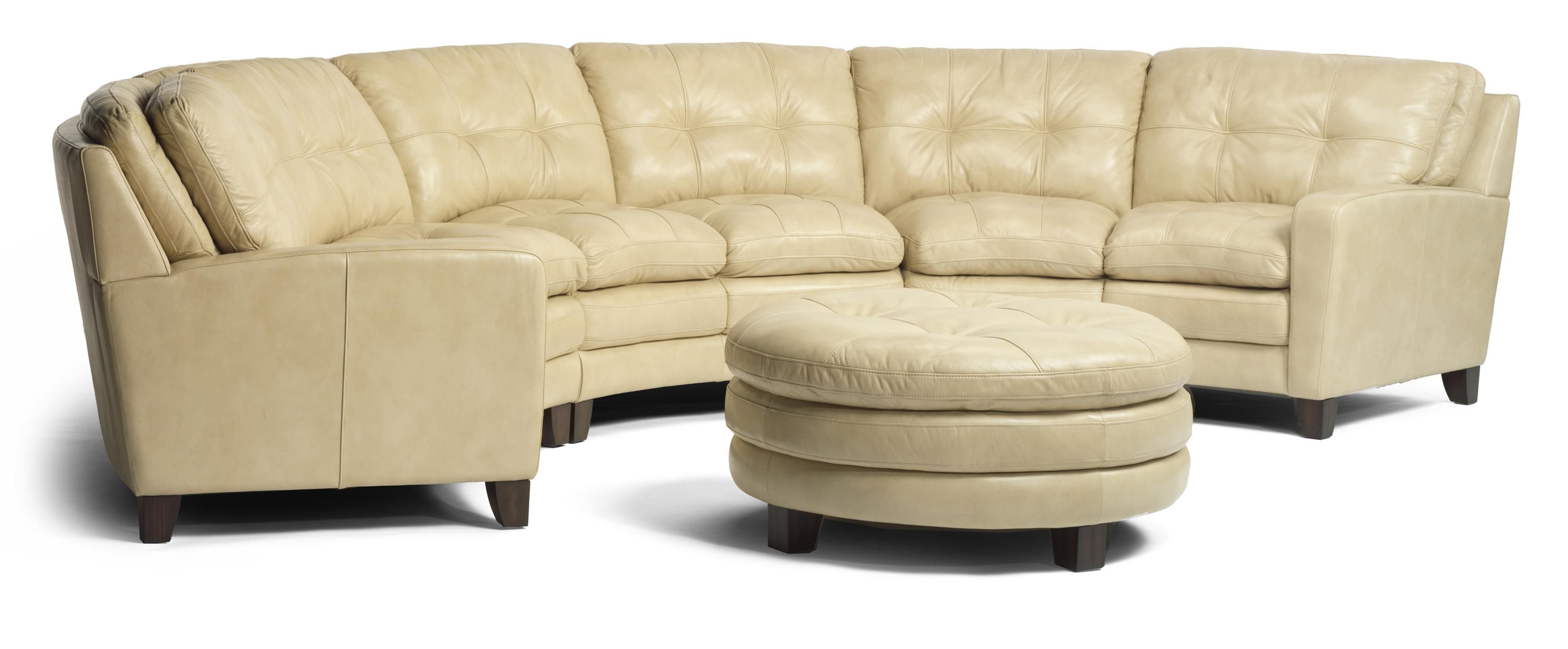Curved Leather Sofa Curved Leather Sofa For Family Room