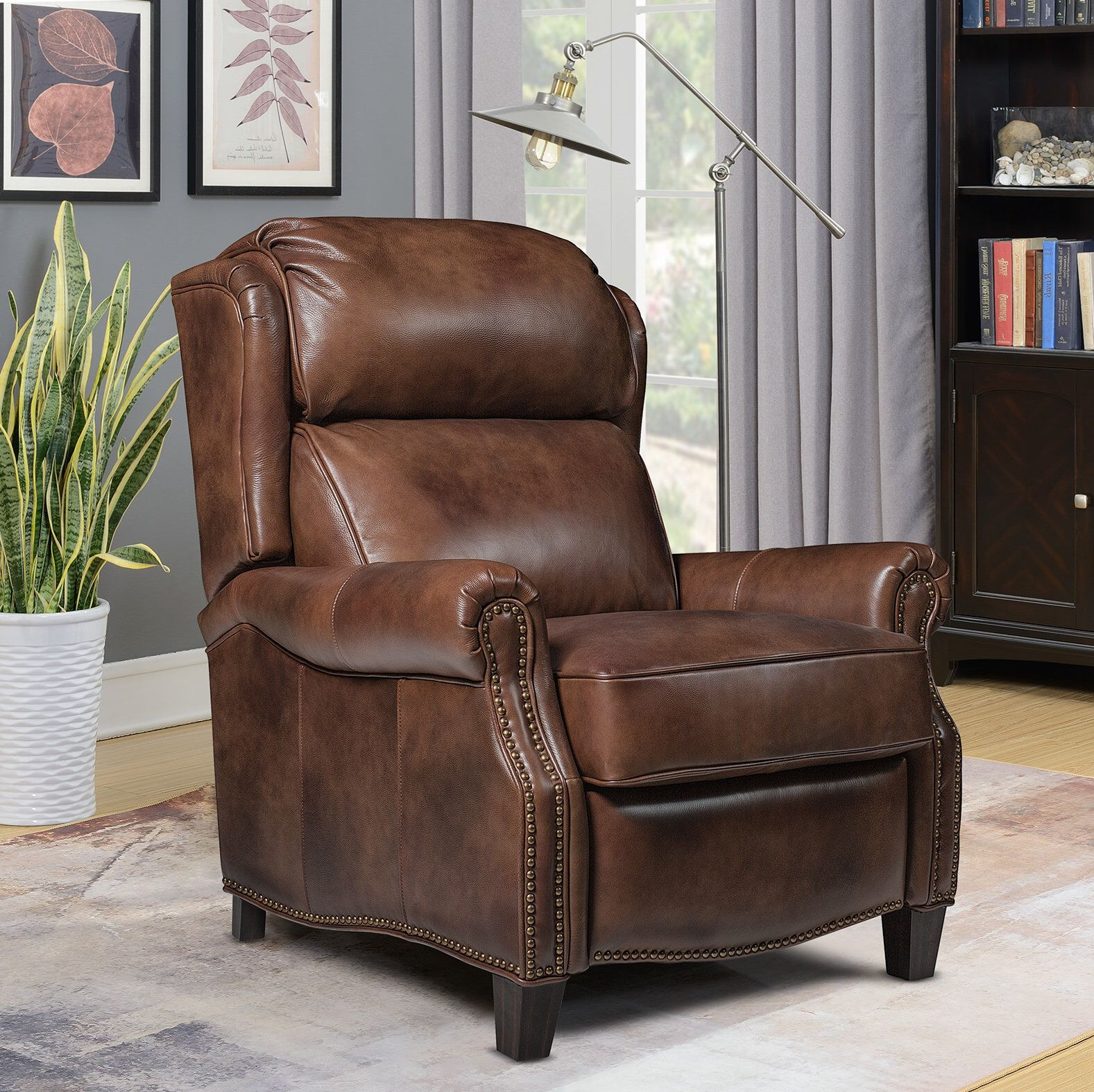 Benelva Leather Manual Recliner Recliner Darby Home Co Home