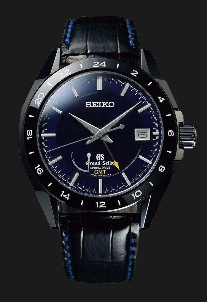 TimeZone : Industry News » N E W M o d e l - Grand Seiko Black Ceramic Spring Drive GMT