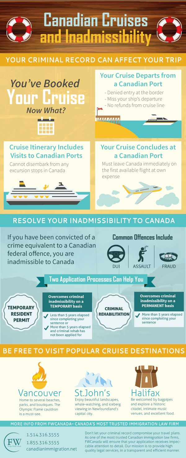 Travelling To From Or Through Canada On A Cruise Can Be Tricky If Your Criminal Record Makes You Inadmissible To Canadian Cruise Cruise Traveling By Yourself