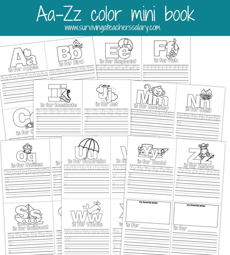 aa zz alphabet letter mini color book practice printable frugal and money saving group board. Black Bedroom Furniture Sets. Home Design Ideas