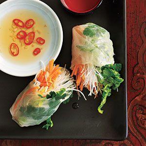Asian-style Veggie Rolls - Cooking Light