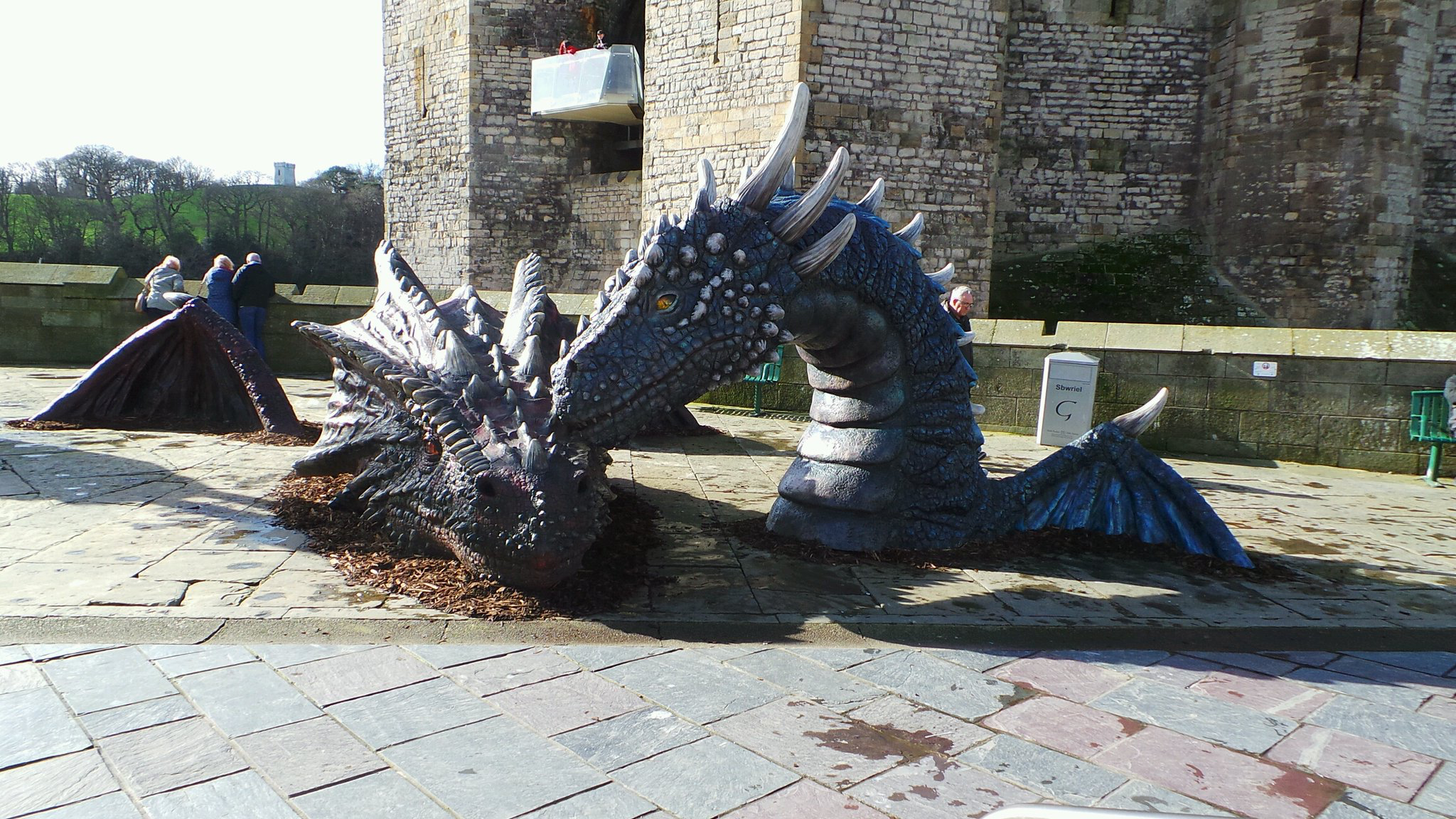Meet Dwynwen Caernarfon S New Resident Dragon Named After Wales Patron Saint Of Love Wales Travel Welsh Ancestry Pembrokeshire [ 1152 x 2048 Pixel ]