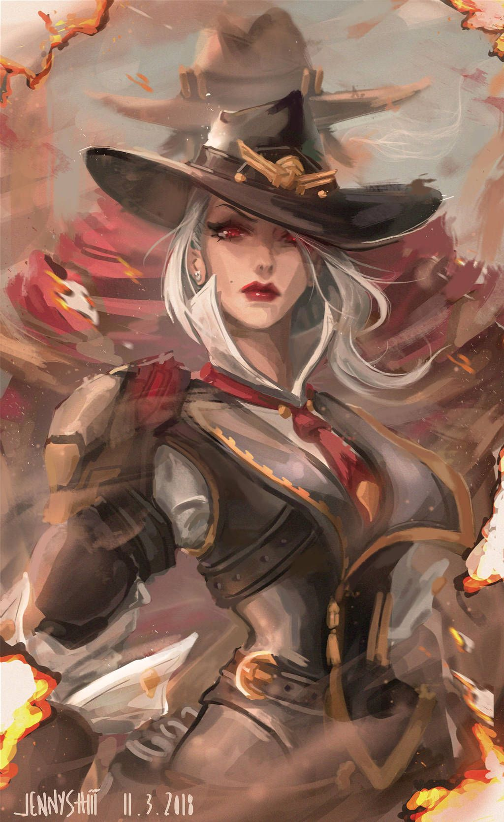 Ashe and McCree from Overwatch by jennyshiii Overwatch
