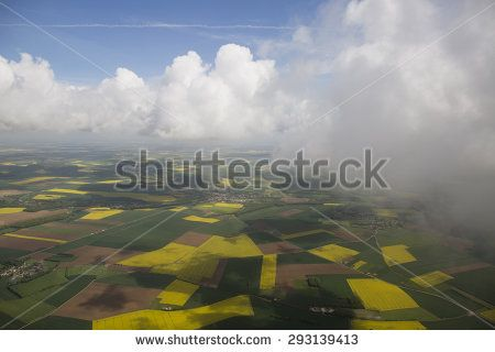 Clouds from the plain view - stock photo