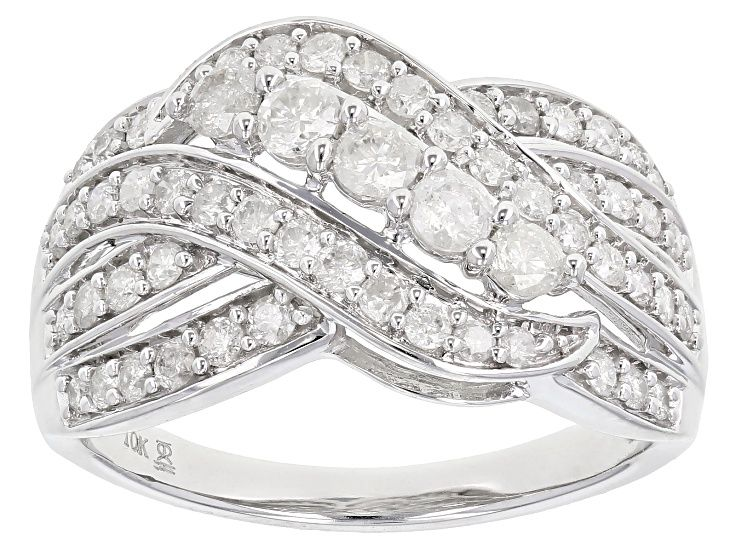 Pre Owned White Diamond 10k White Gold Ring 1 00ctw Prc463 White Gold Rings White Gold Gold Rings