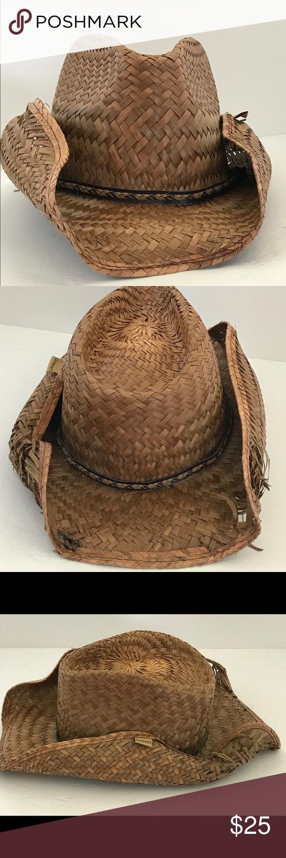 ac50d75179abb GoldCoast Peter Grimm Cowboy Drifter Straw Hat Gold Coast Sunwear Peter  Grimm Straw Distressed Look Cowboy Drifter Hat Gold Coast Accessories Hats