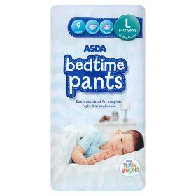 Asda Little Angels Bedtime Pants Disposable Pull On Aimed