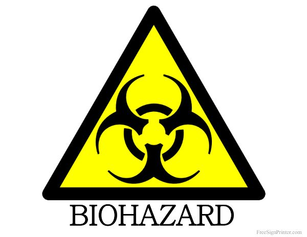 graphic about Biohazard Sign Printable named Printable Biohazard Signal Business Symptoms Professional