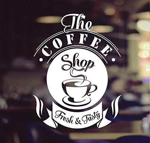 Coffee Shop Tasty Takeaway Cup Window Sign Vinyl Sticker Https - Window stickers amazon uk