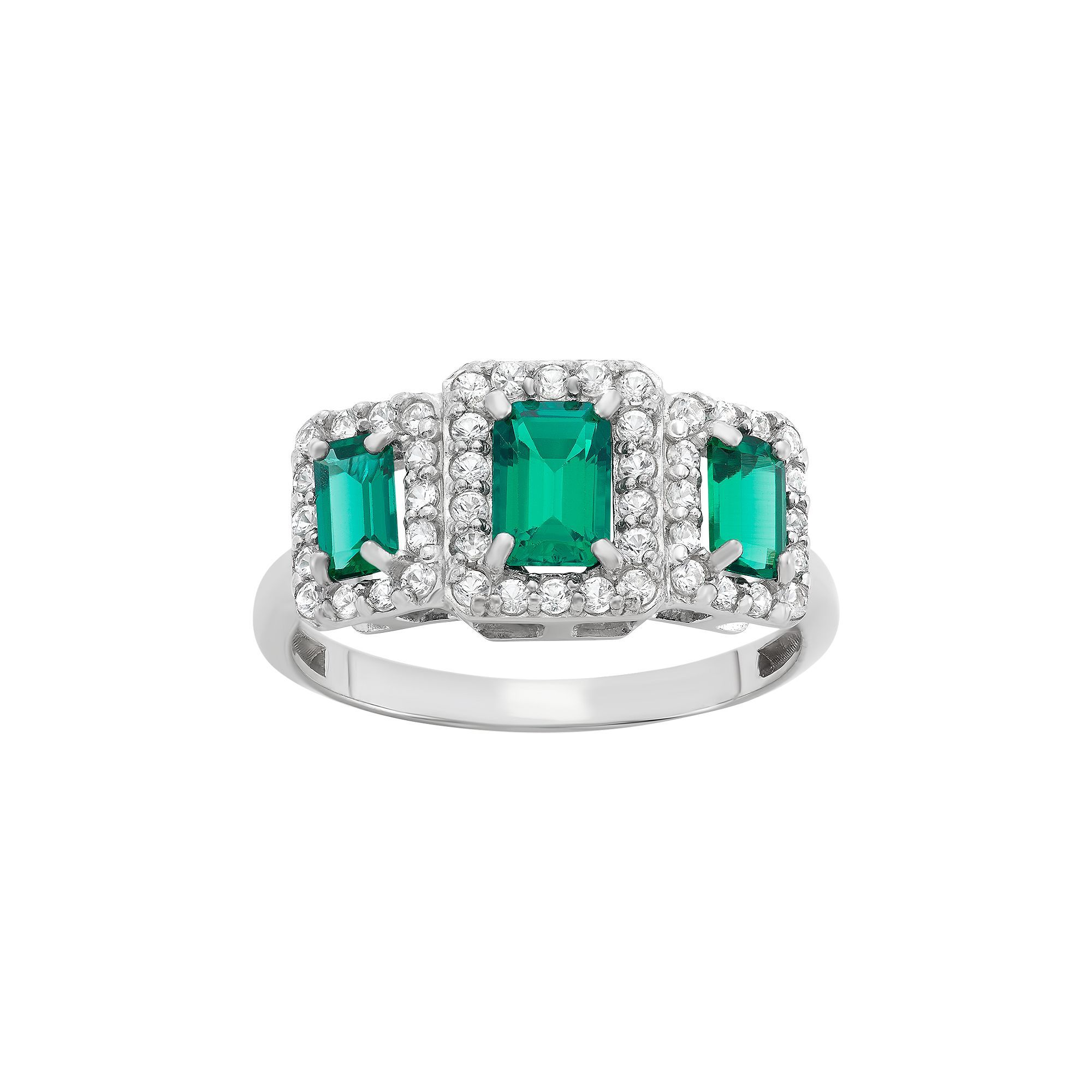 image avanti white diamond rings gold stone emerald and three ring womens dress