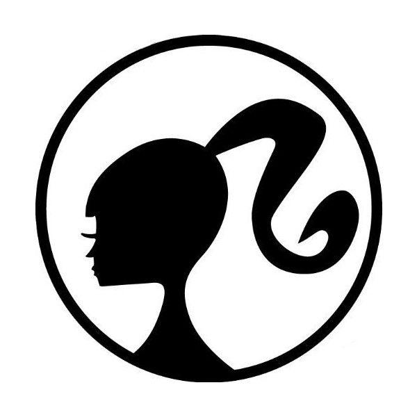 barbie head logo templates pinterest logos barbie party and rh pinterest se barbie head long hair barbie head logo png