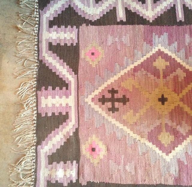 Moroccan Kilim Rug - Purple, Pink, Brown