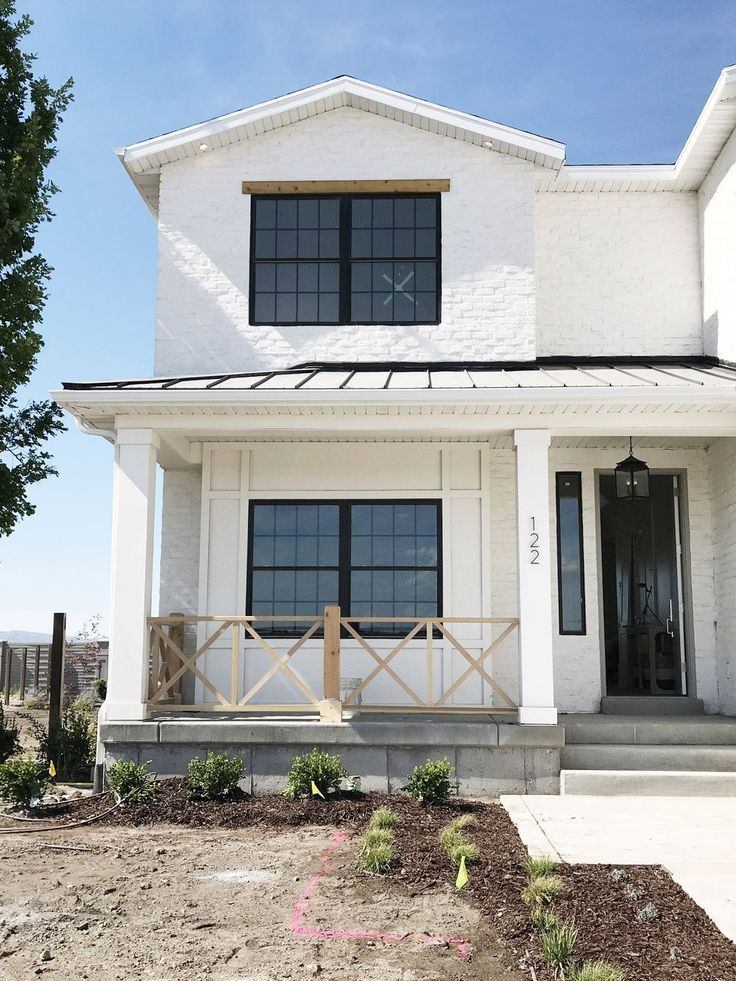 Here Are Some Beautiful Roof Ideas White brick houses