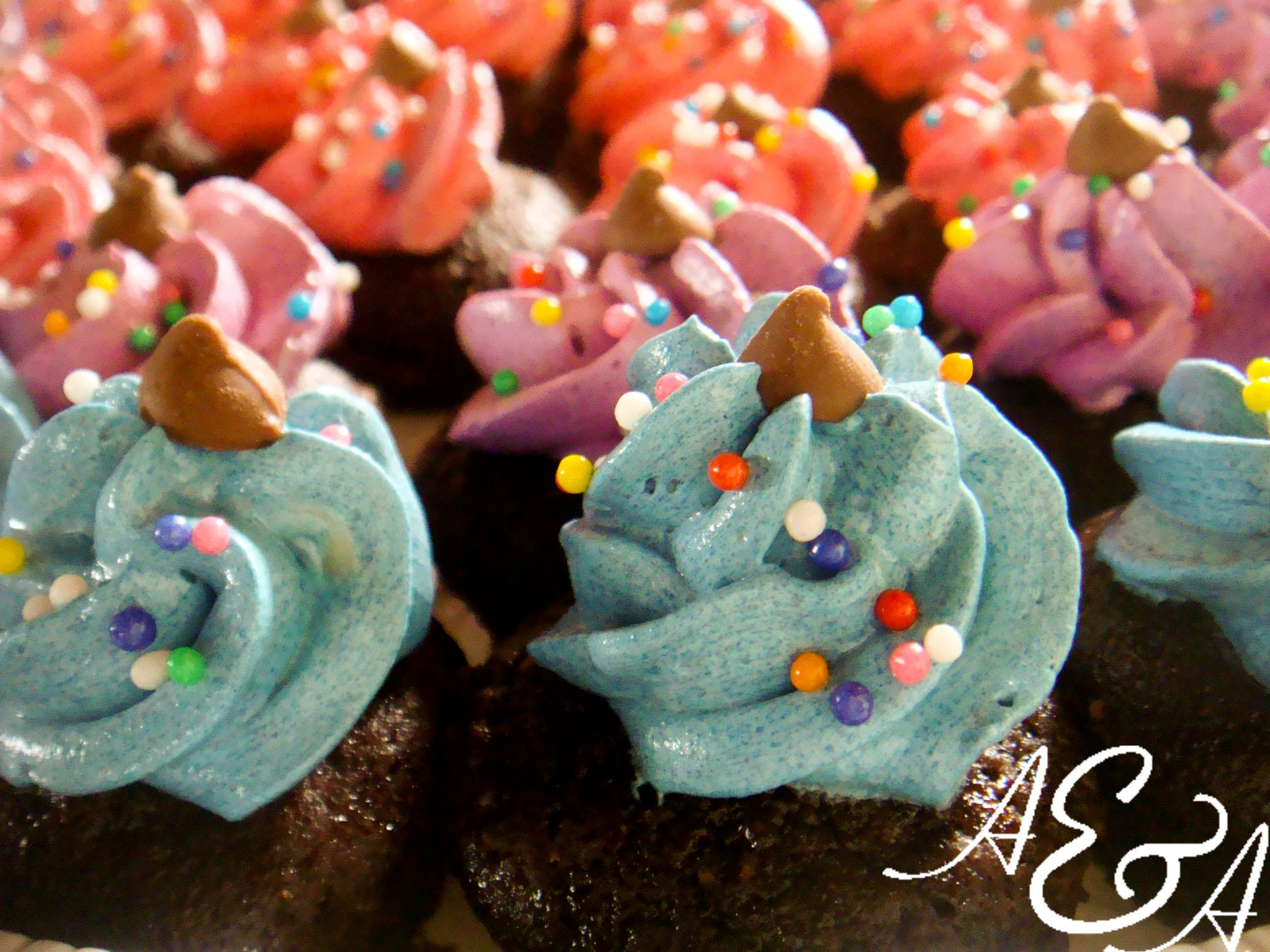 kids bday - minicupcakes with buttercream