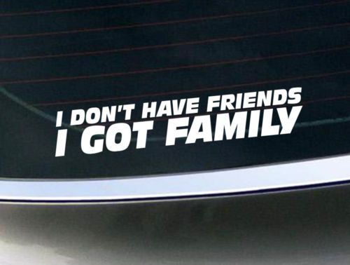 I dont have friends i got family don fast and furious 7 vinyl sticker decal movie cars and rip paul walker