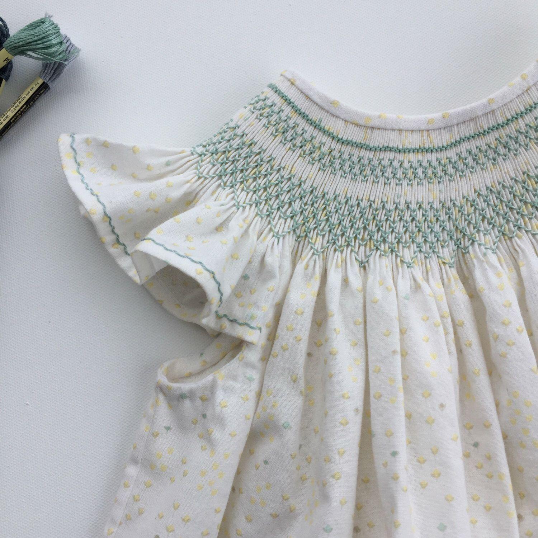 Smocked Dress, Smocked Bishop Dress, Smocked Dress Girls, Smocked Easter Dress, Smocked Dress Size 3 by CalicoThreadsCo on Etsy https://www.etsy.com/listing/498336753/smocked-dress-smocked-bishop-dress