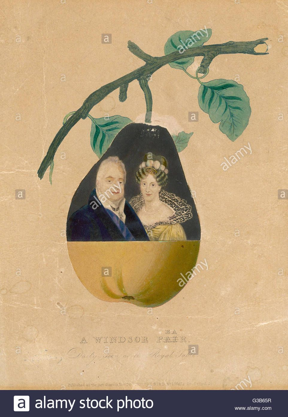 King William IV and Queen Adelaide of Saxe-Meiningen. A Windsor Pear ...