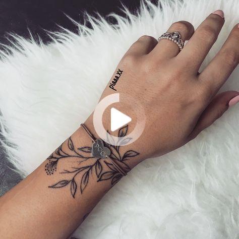 Tattoo leaves wrist hand jewelry – Glenda Garcia  #tatoofeminina - tat