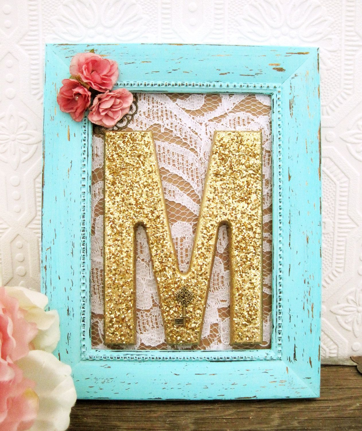 Shabby Chic Nursery Decor, Framed Letters, Baby Girl Nursery ...