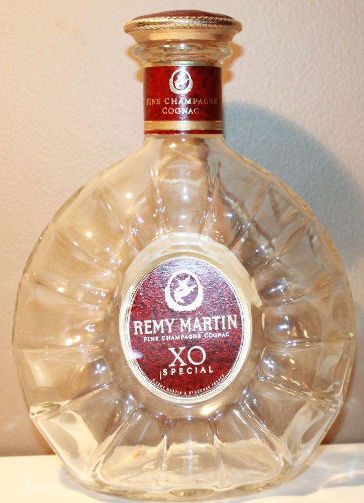 Hennessy XO Original French Cognac empty Decanter glass
