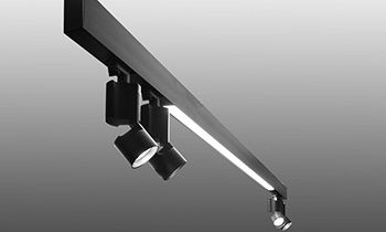 Coronet Track Lighting With Led Uplight And Downlight On