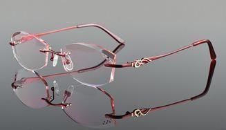 c7e5b4e65f93 Vazrobe Rimless Glasses Frame Women Rhinestone Elegant Ladies Eyeglasses  Frames for Prescription Diopter Myopia