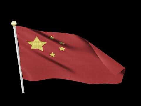 Free Video Footages National Flag Of China Waving China Flag Animati Icon0 Com