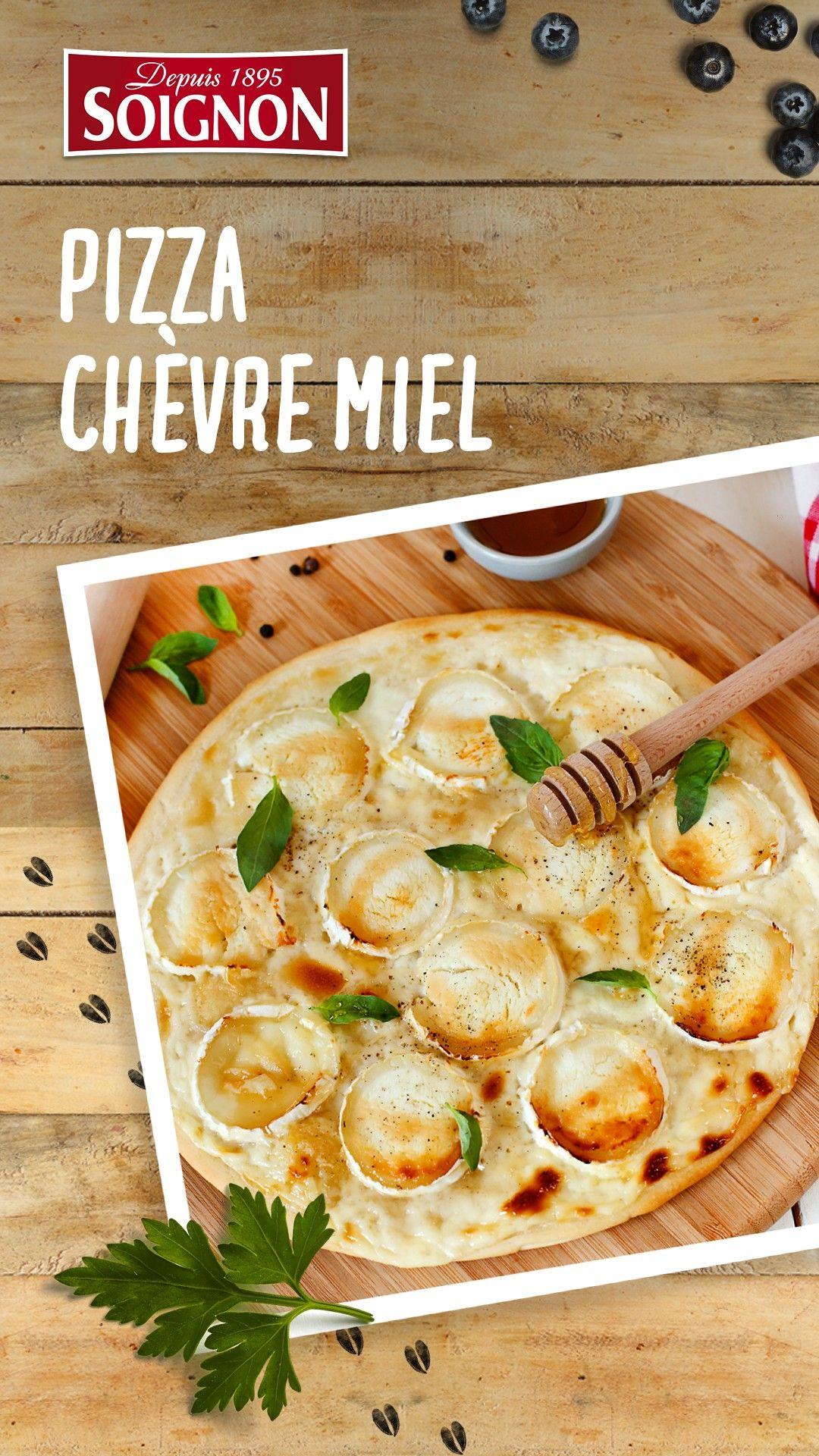 Pizza Chèvre  Miel Envie dune pizza fromage de chèvre et miel  Retrouvez la recette sur le site de SoignonEnvie dune pizza fromage de chèvre et miel...