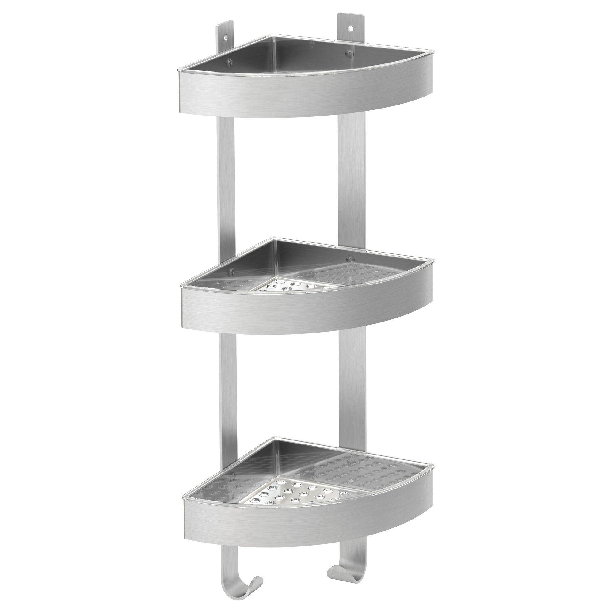 grundtal corner wall shelf unit stainless steel wall shelf unit