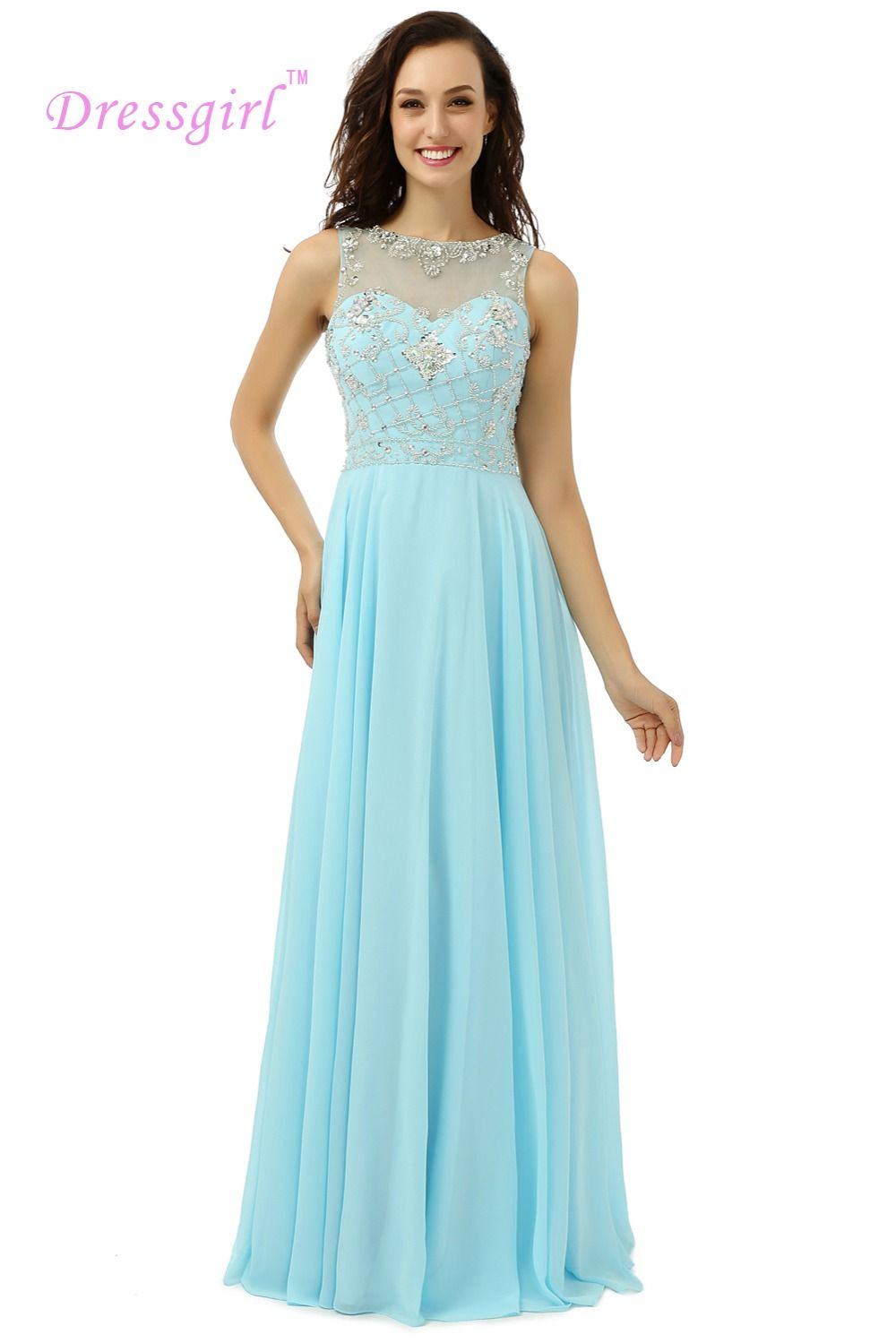 Click to buy ucuc dressgirl turquoise evening dresses aline see