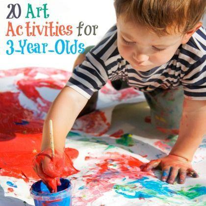 20 Art Activities For 3 Year Olds Craft Activities For Kids Toddler Activities Art Activities