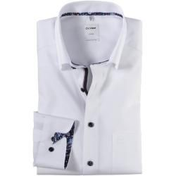 Photo of Olymp Luxor shirt, comfort fit, under-button-down, white, 40 Olymp