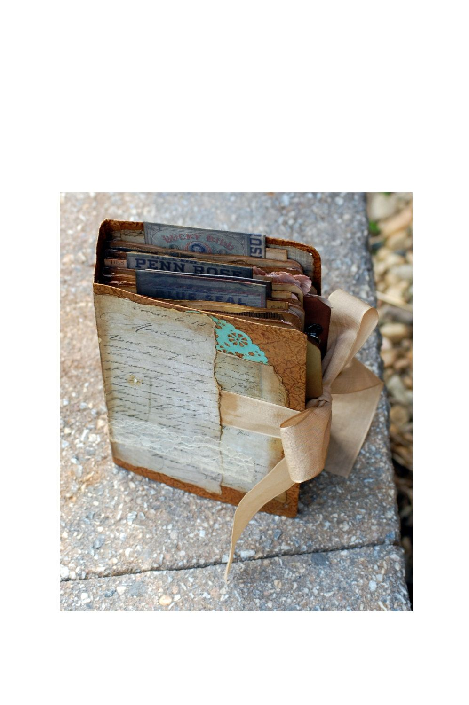 "Vintage ""Torn"" Mini Album by PickleHillDesign on Etsy"