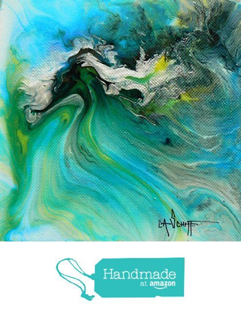 "000 1 6x6x1.5"" Original Abstract, mixed media art, poured paint, acrylic green, turquoise by Carol Schiff Fine Art from Carol Schiff Fine Art http://www.amazon.com/dp/B0165MUQTQ/ref=hnd_sw_r_pi_dp_VG0mwb0TVVFEN #handmadeatamazon"