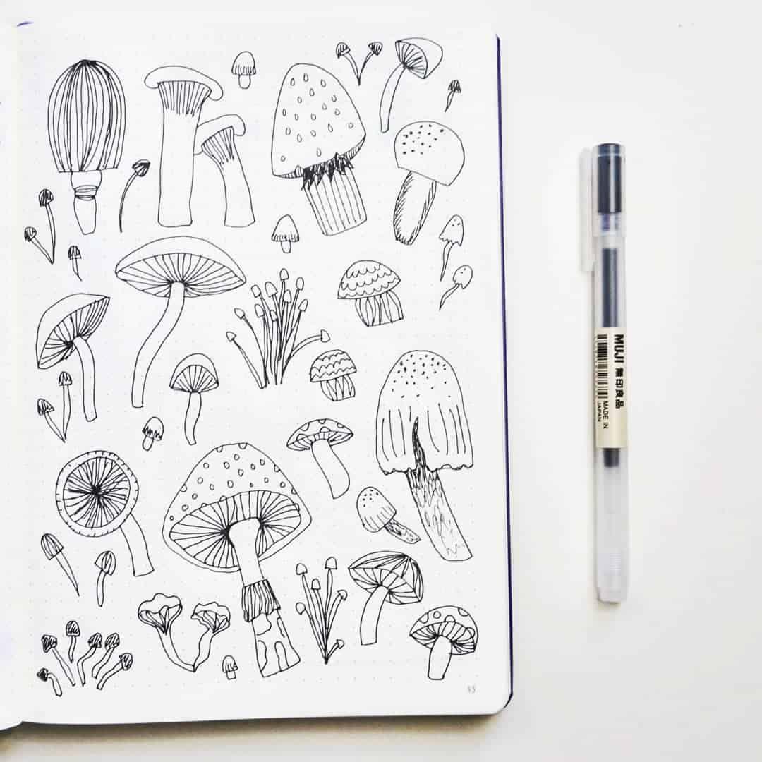 40+ Mushroom Bullet Journal Theme Ideas | My Inner Creative