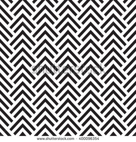 seamless herringbone pattern with straight lines black and white geometric vector background