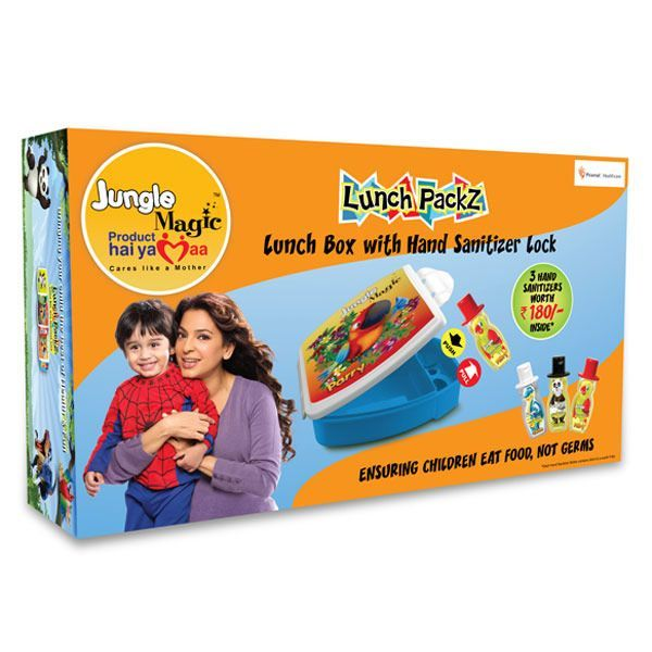 Jungle Magic Lunch Packz Parry With 3 Hand Sanitizers Child