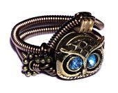 Steampunk Jewelry - RING - Vitrail Svarovski Crystal (Custom size available - see description) via Etsy.