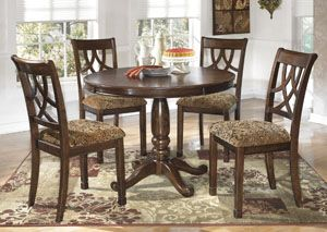Leahlyn Round Dining Table W/ 4 Side Chairs, /category/dining Room