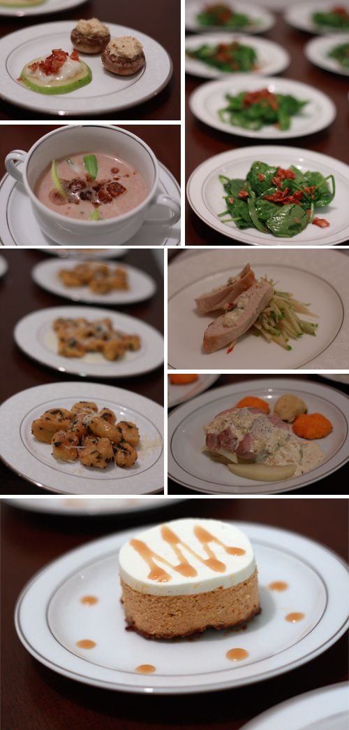 Runs With Spatulas How To Host A Seven Course Dinner Party Ideas Pinterest Menu And 5 Meal