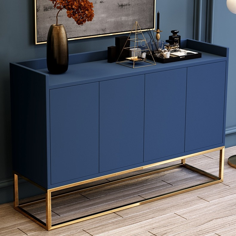 Modern 48 Blue Buffet Sideboard Kitchen Sideboard Cabinet With 4