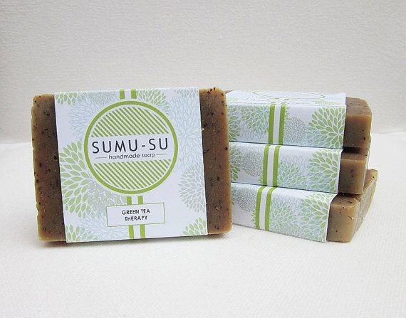 Green Tea Therapy Rice Water Soap by SUMUSU on Etsy, $5.00    Organic and fragrant locally-made soap from right here in Maryland! Leaves your skin feeling smooth and refreshed~ ♥