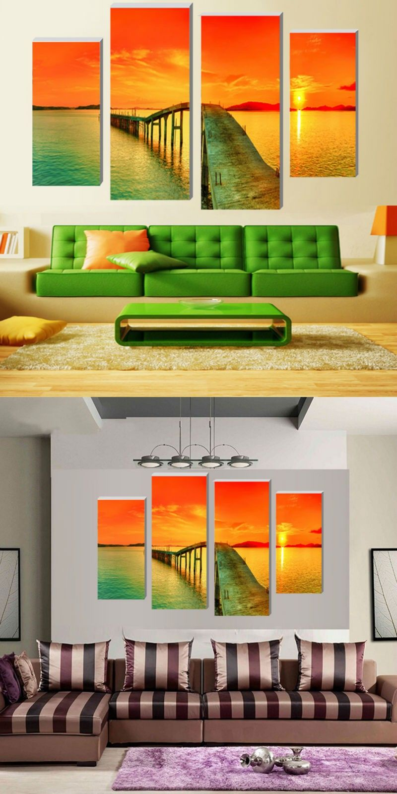 Modular pictures Caribbean Modern Home Decoration bedroom