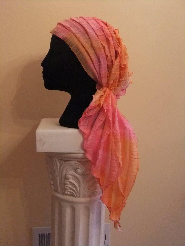 Free pattern for pretied chemo scarf, pretied bandana, ruffle fabric ...
