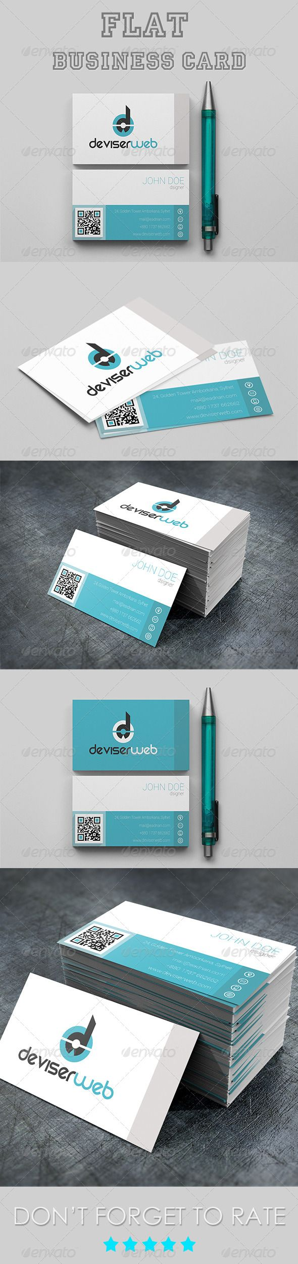 Pin By HAilp On Business Cards PSD With QR Code