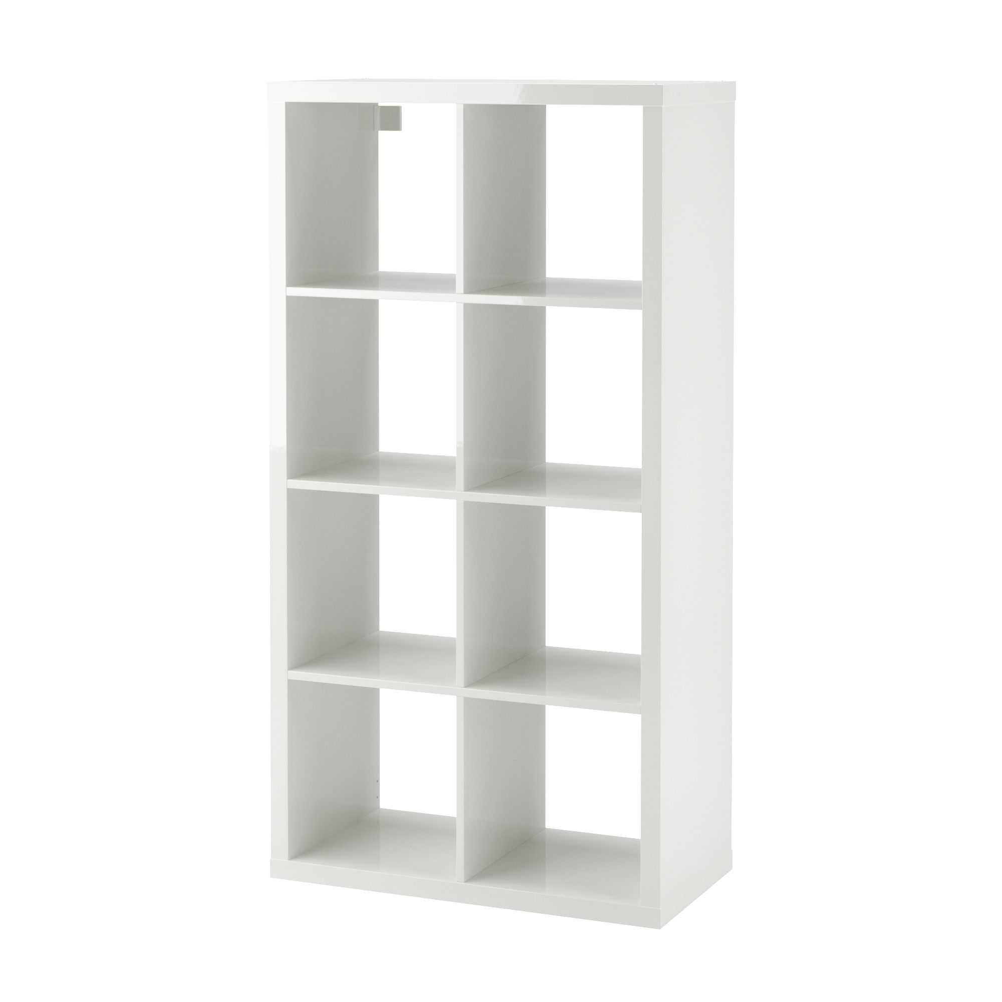 Kallax Shelf Unit High Gloss White 30 3 8x57 7 8 In 2020